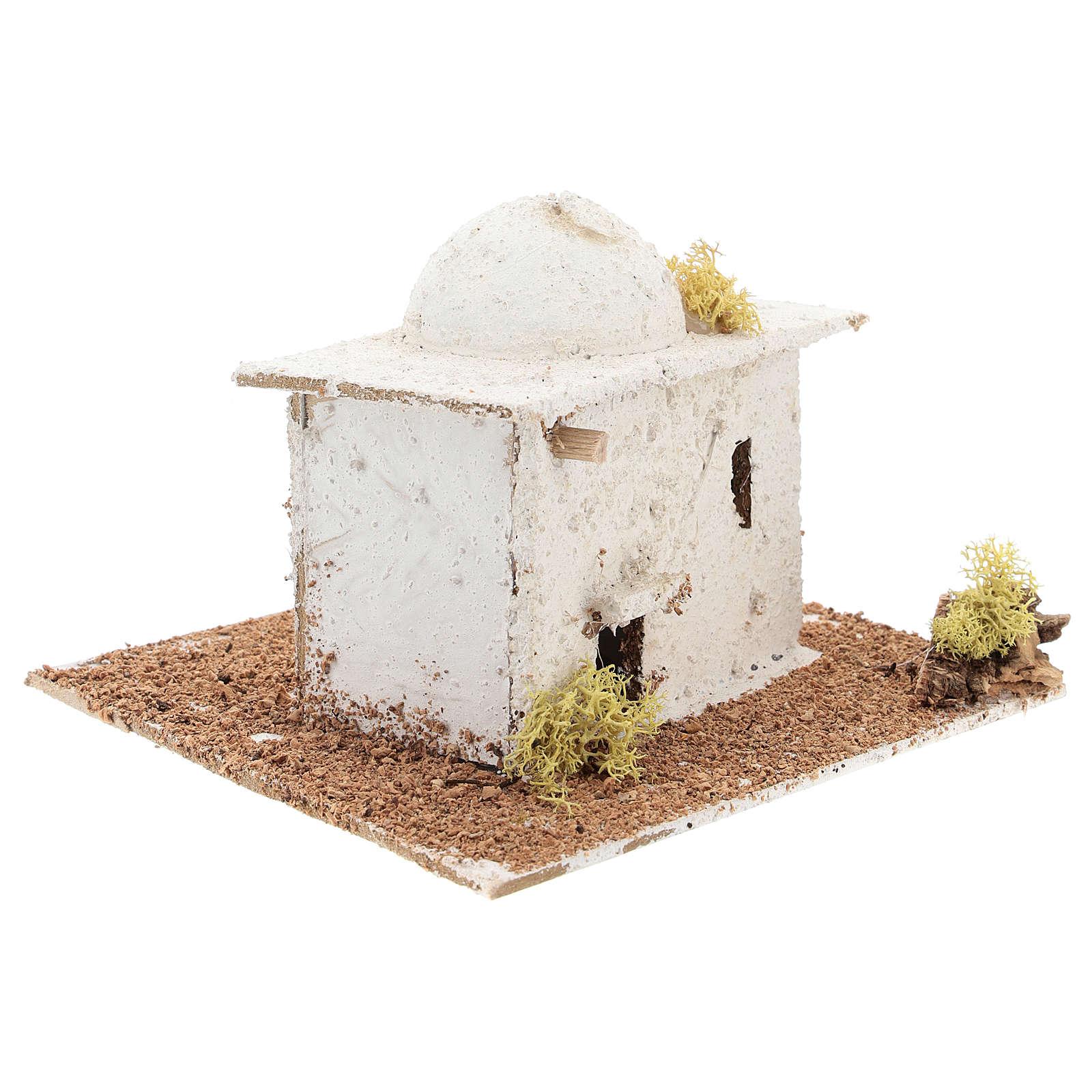 Casinha de estilo árabe com cúpula para presépio napolitano com figuras de 6 cm de altura média 4