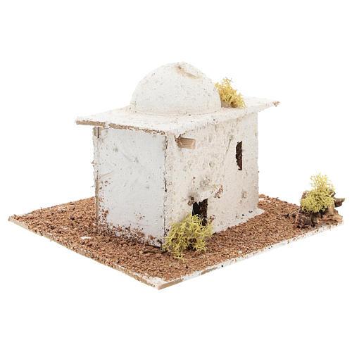 Casinha de estilo árabe com cúpula para presépio napolitano com figuras de 6 cm de altura média 3