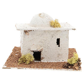 Mini Arabian house with dome, for 6 cm Neapolitan nativity s1