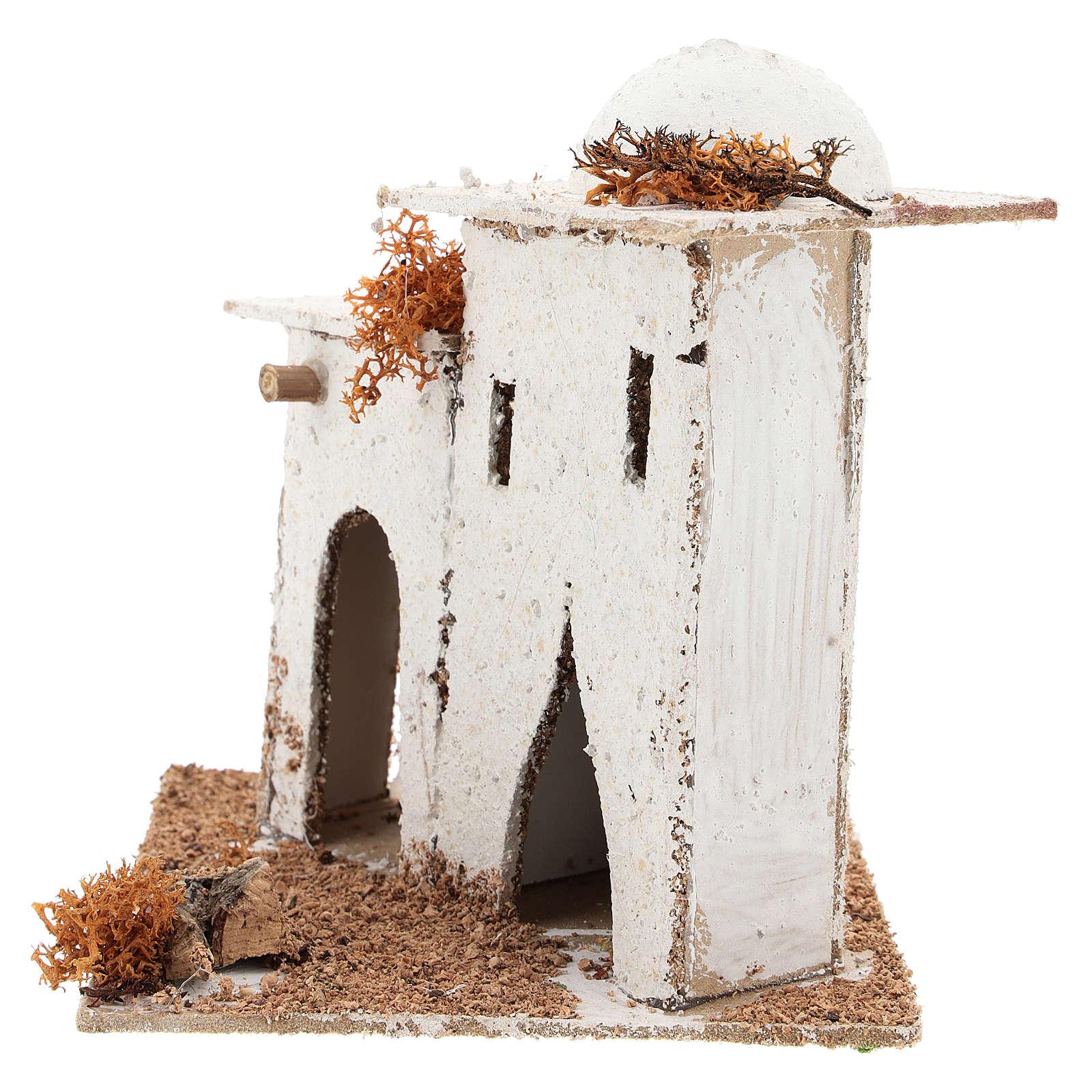 Casa en estilo árabe con puerta de arco para belén napolitano de 6 cm 4