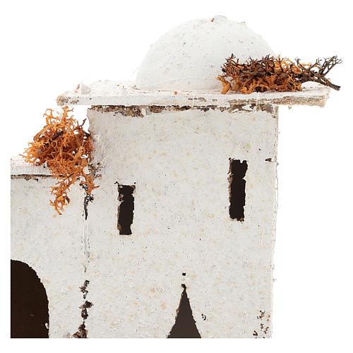 Maison en style arabe avec porte en arc pour crèche napolitaine de 6 cm 2