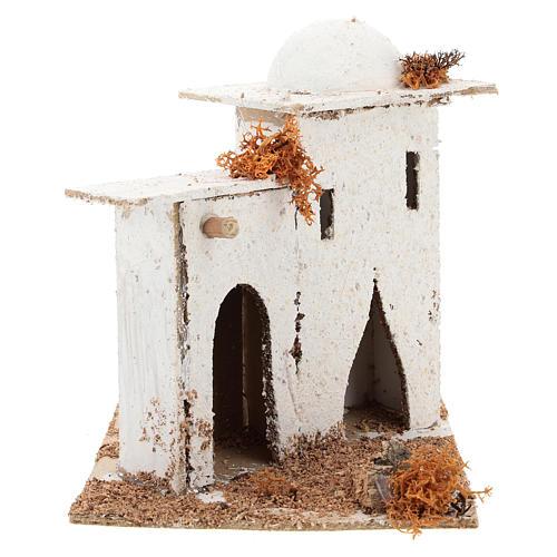 Maison en style arabe avec porte en arc pour crèche napolitaine de 6 cm 4