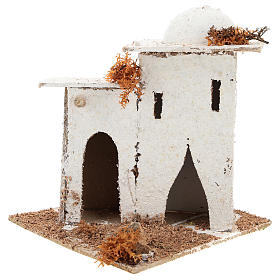 Casa in stile arabo con porta ad arco per presepe napoletano di 6 cm s1