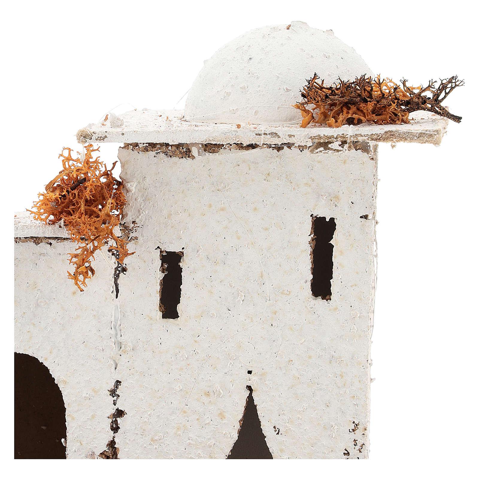 Casa em estilo árabe com portão arqueado para presépio napolitano com figuras de 6 cm de altura média 4