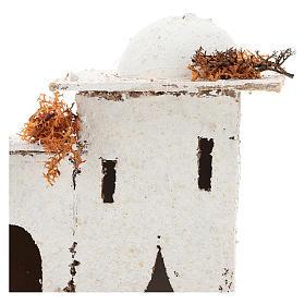 Casa em estilo árabe com portão arqueado para presépio napolitano com figuras de 6 cm de altura média s2