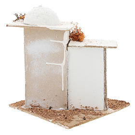 Casa em estilo árabe com portão arqueado para presépio napolitano com figuras de 6 cm de altura média s5