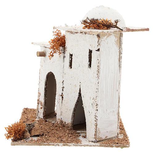Casa em estilo árabe com portão arqueado para presépio napolitano com figuras de 6 cm de altura média 3