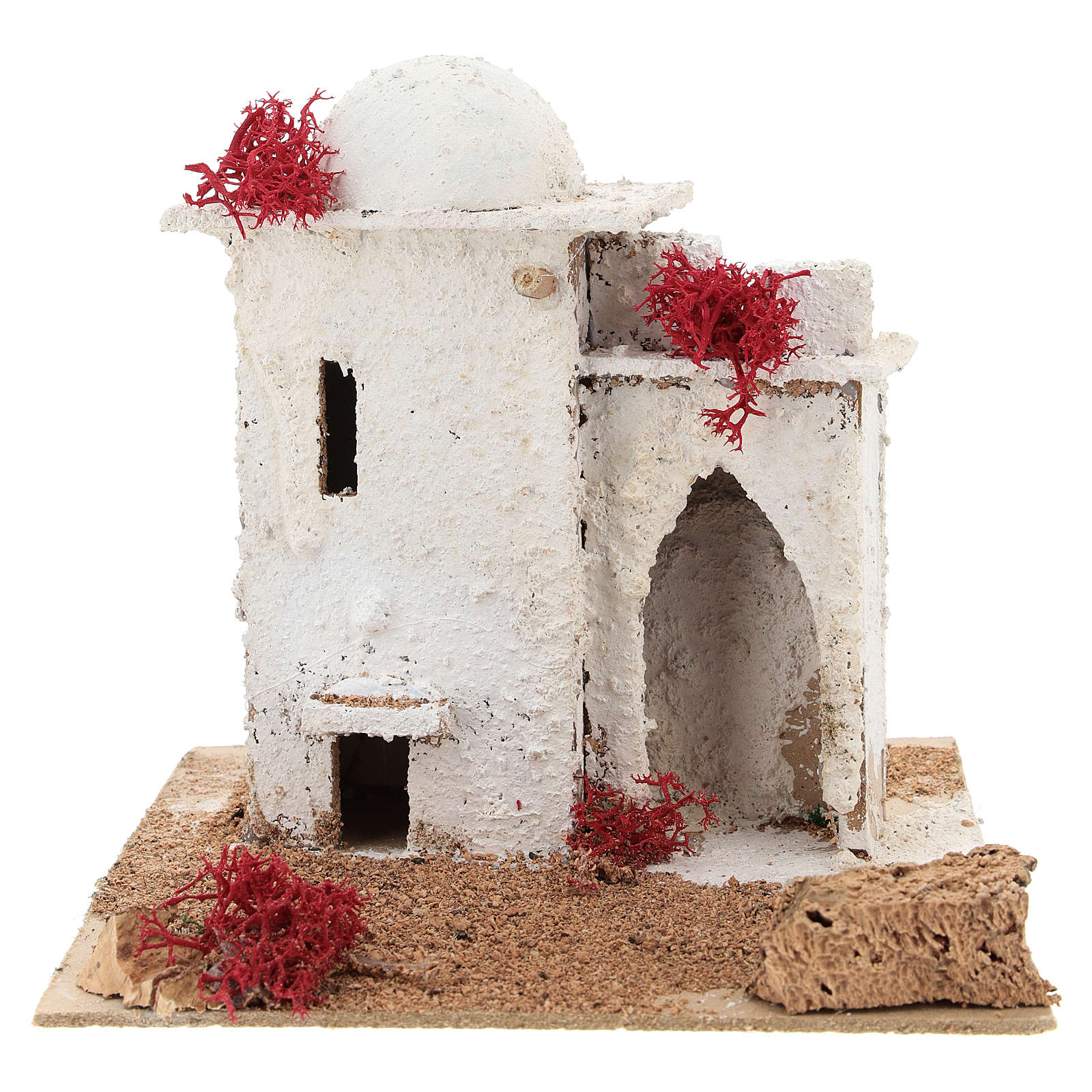 Arabic style house with pointed arch door for Neapolitan Nativity scene of 6 cm 4