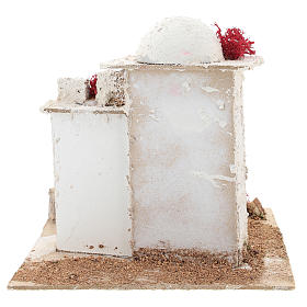 Arabic style house with pointed arch door for Neapolitan Nativity scene of 6 cm s5