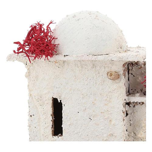 Casa in stile arabo con porta ad arco acuto per presepe napoletano di 6 cm 2