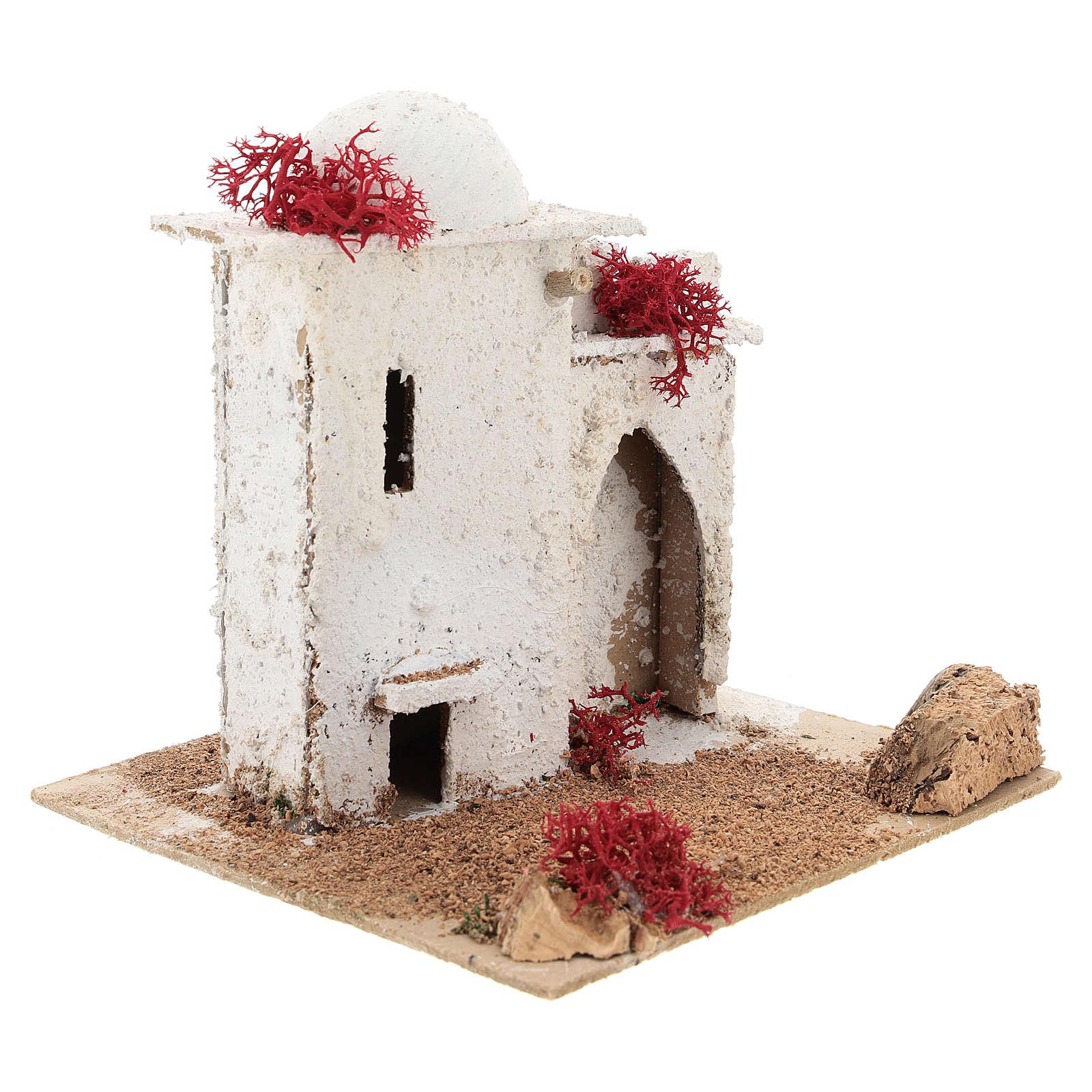Casa de estilo árabe com porta de arco quebrado para presépio napolitano com figuras de 6 cm de altura média 4