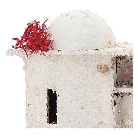 Casa de estilo árabe com porta de arco quebrado para presépio napolitano com figuras de 6 cm de altura média s2