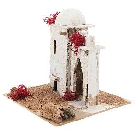 Casa de estilo árabe com porta de arco quebrado para presépio napolitano com figuras de 6 cm de altura média s3