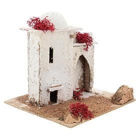 Casa de estilo árabe com porta de arco quebrado para presépio napolitano com figuras de 6 cm de altura média s4