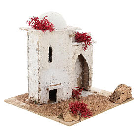 Arab house with door and pointed arch, for 6 cm Neapolitan nativity s4
