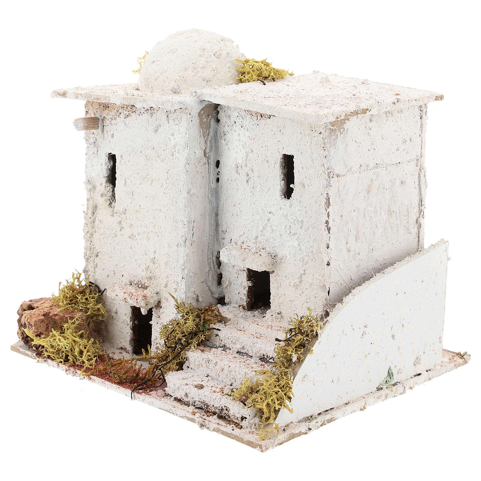 Arabisches Haus mit Treppe für 6cm neapolitanische Krippe 4
