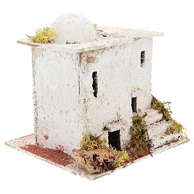 Arabic style house with staircase for Neapolitan Nativity scene of 6 cm s3