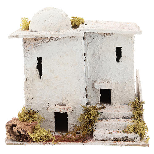 Arabic style house with staircase for Neapolitan Nativity scene of 6 cm 1