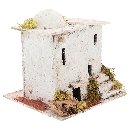 Arabic style house with staircase for Neapolitan Nativity scene of 6 cm 3