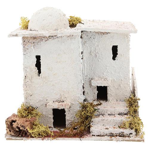 Casa in stile arabo con scalinata per presepe napoletano di 6 cm 1