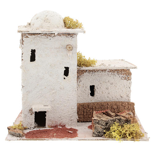 Arabic style house with fence for Neapolitan Nativity scene of 6 cm 1