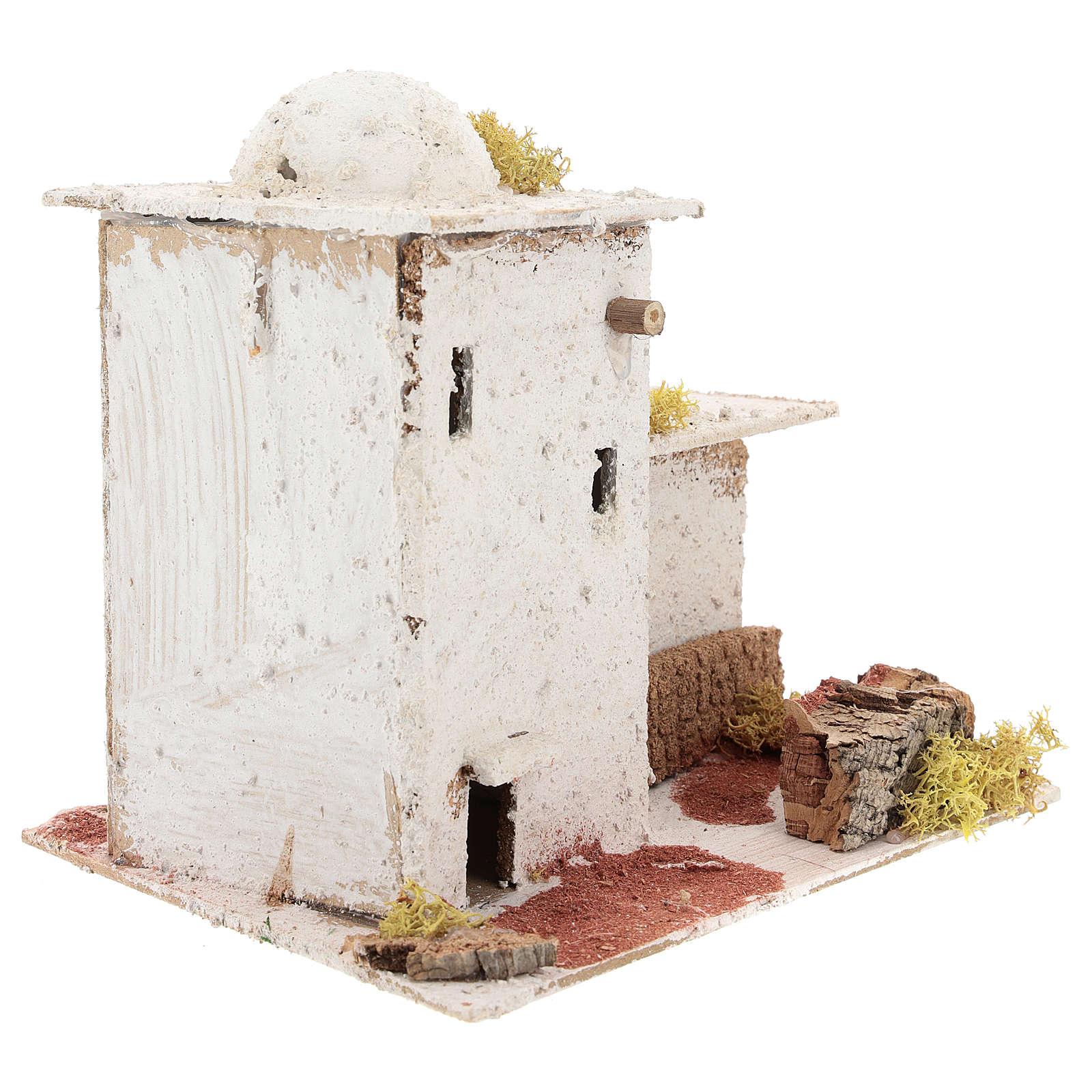 Maison en style arabe avec palissade pour crèche napolitaine de 6 cm 4