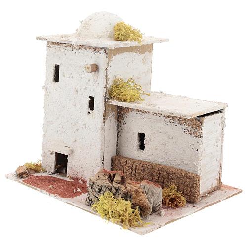 Casa in stile arabo con staccionata per presepe napoletano di 6 cm 2