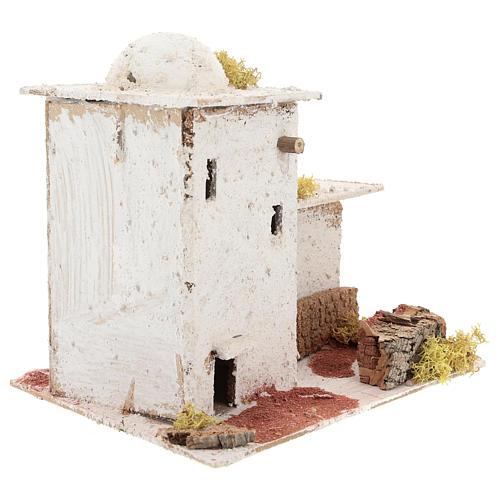 Casa in stile arabo con staccionata per presepe napoletano di 6 cm 3