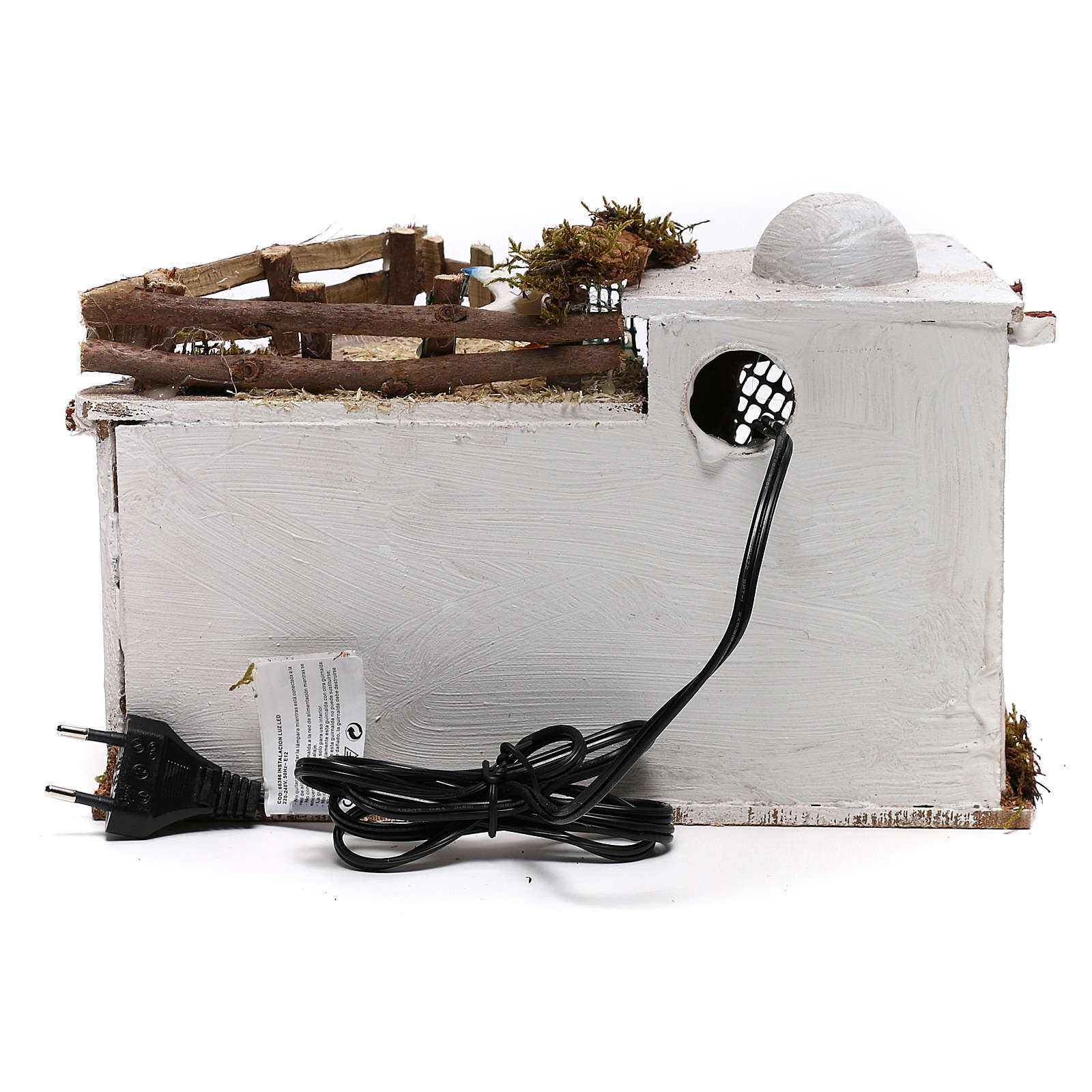 Arabic village with terrace with lights for Nativity Scene 15x25x15 cm 4