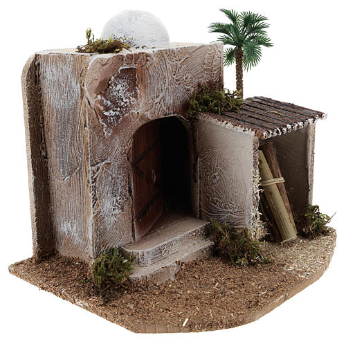 House with hut for Arabic style Nativity scene 15x20x15 3