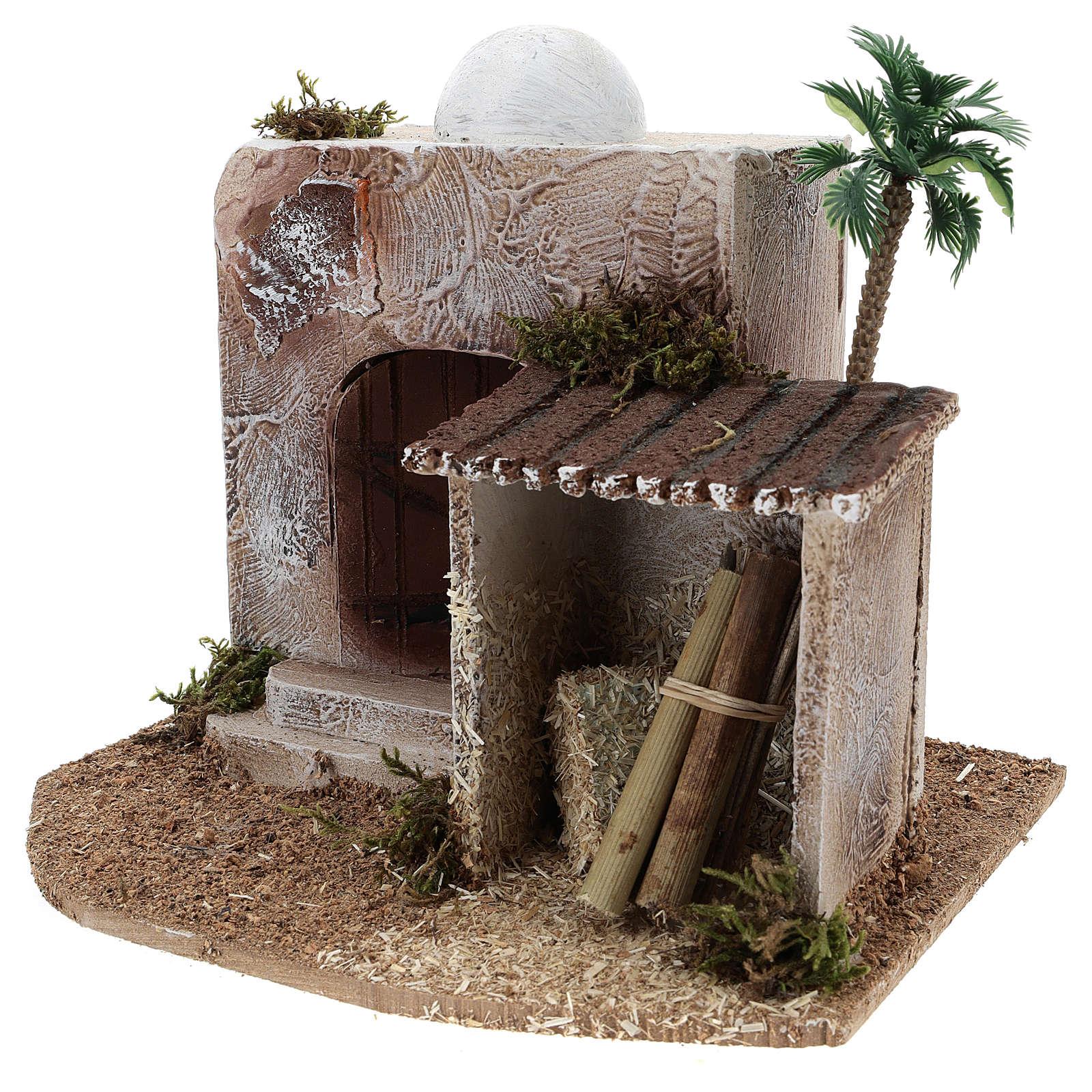 Casa con cobertizo belén estilo árabe 15x20x15 4