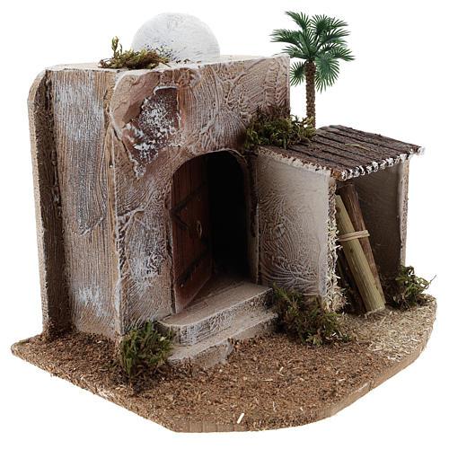 Casa con cobertizo belén estilo árabe 15x20x15 3