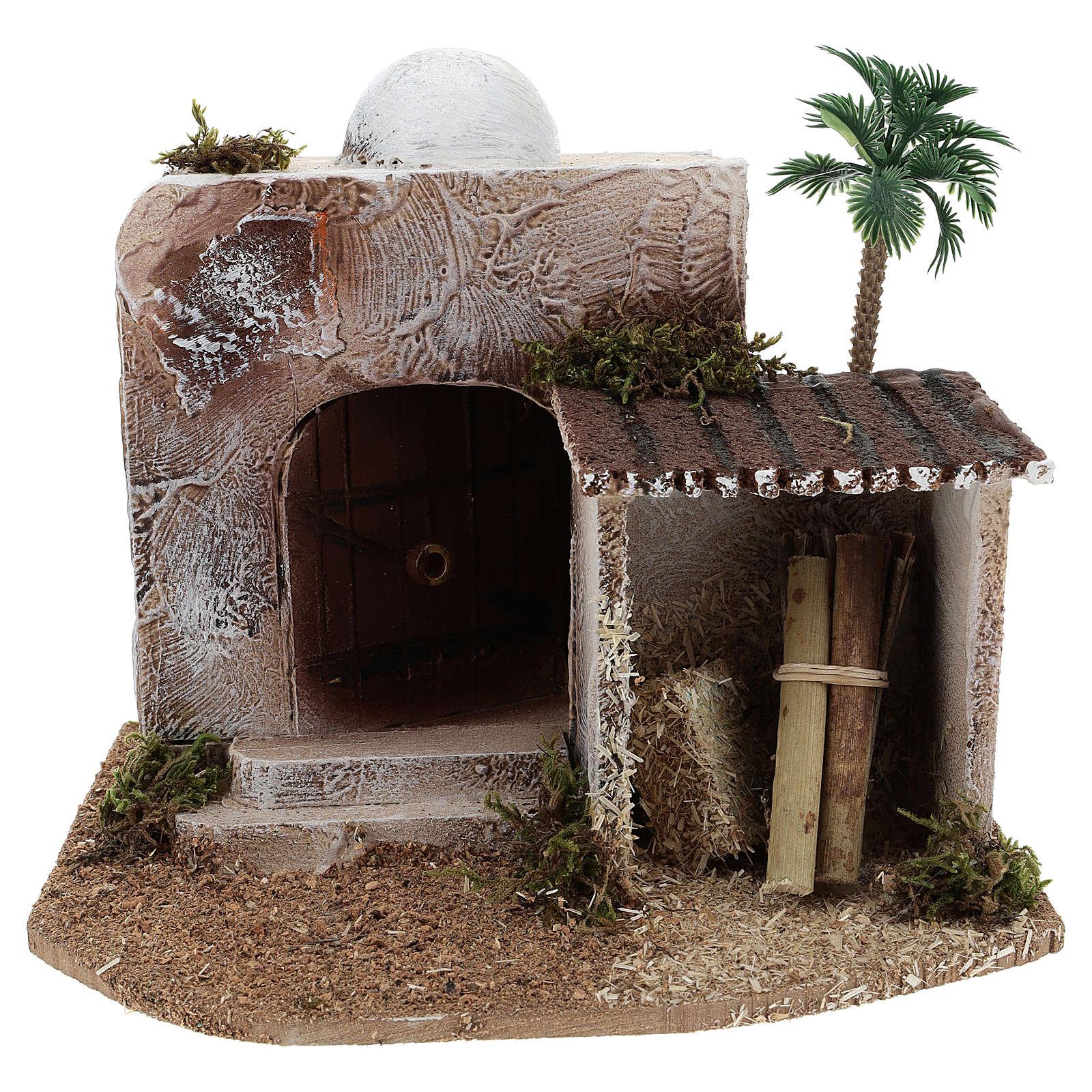 Maison avec cabane crèche style arabe 15x20x15 cm 4