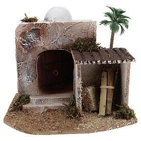 Maison avec cabane crèche style arabe 15x20x15 cm s1