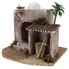Maison avec cabane crèche style arabe 15x20x15 cm s2