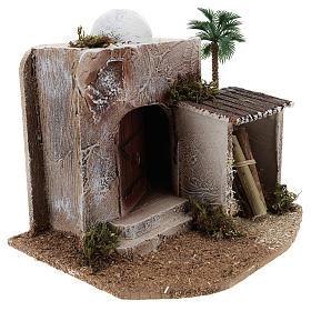 Maison avec cabane crèche style arabe 15x20x15 cm s3