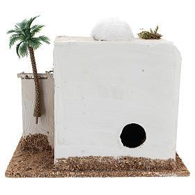 Maison avec cabane crèche style arabe 15x20x15 cm s4
