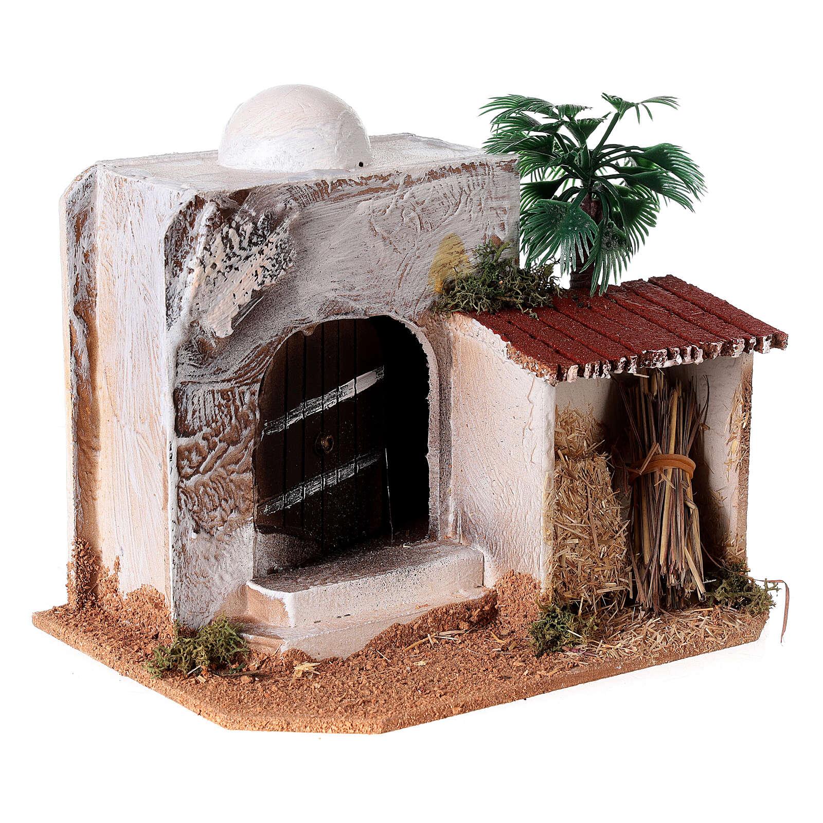 Casa con capanno presepe stile arabo 15x20x15 4