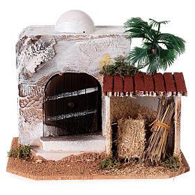 Casa con capanno presepe stile arabo 15x20x15 s1