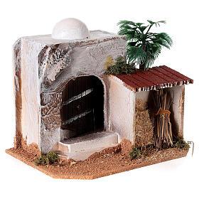 Casa con capanno presepe stile arabo 15x20x15 s4
