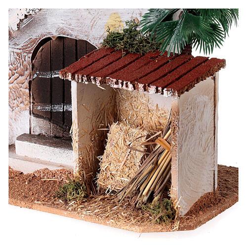 Casa con capanno presepe stile arabo 15x20x15 2