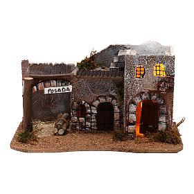 Taverne pour crèche en style arabe avec lumières 15x30x15 cm s1