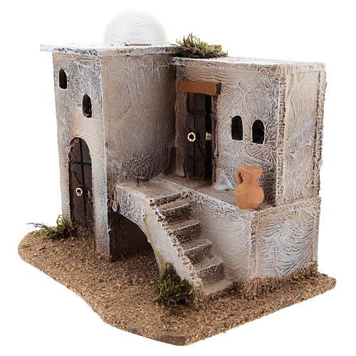 Casa para belén en estilo árabe con escaleras 15x20x15 cm 2