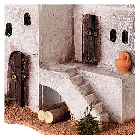 Casa per presepe in stile arabo con scale 15x20x15 cm s2