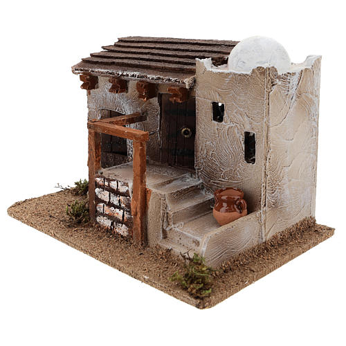 Casa para belén en estilo árabe con jarrón terracota 15x25x15 cm 2