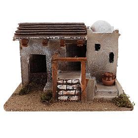 Maison pour crèche en style arabe avec vase terre cuite 15x25x15 cm s1