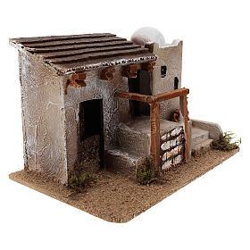 Maison pour crèche en style arabe avec vase terre cuite 15x25x15 cm s3