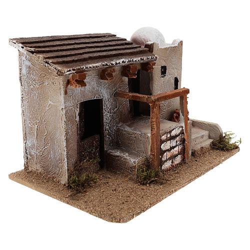 Maison pour crèche en style arabe avec vase terre cuite 15x25x15 cm 3