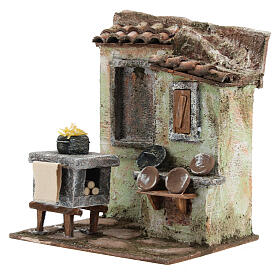 Mini outdoor kitchen with stove pasta plates 20x20x15 cm, for 13 cm nativity s2