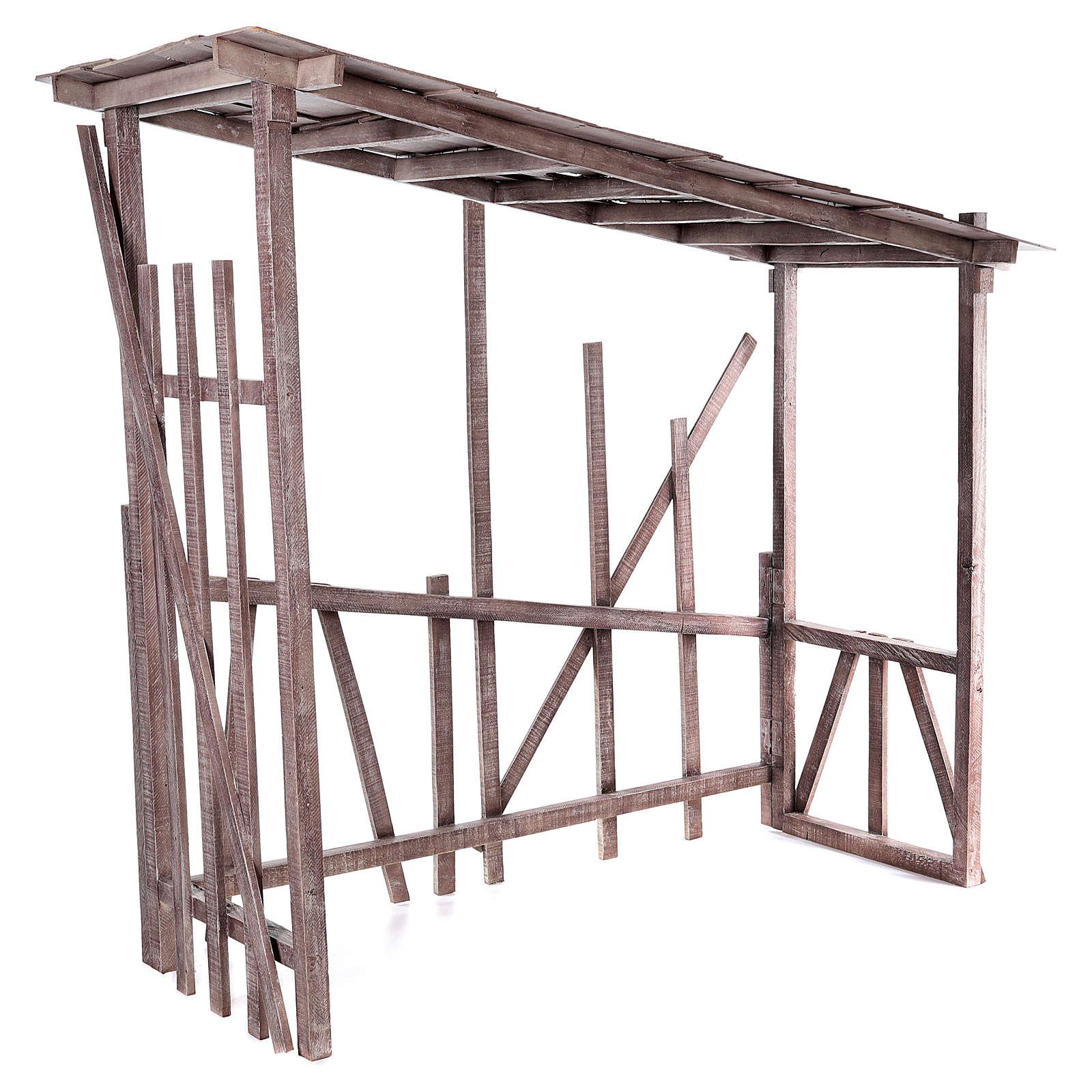 Cabaña madera desmontable 150x150x55 cm belén 120 cm 4